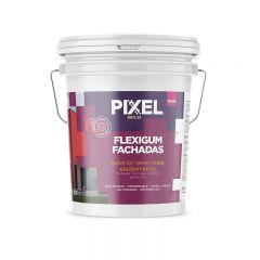 Revestimiento fachadas elastomerico Flexigum ME-500 exterior blanco semi-mate balde x 20l