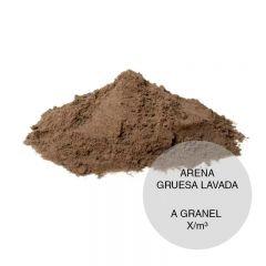 Arena gruesa construccion lavada granel x/m³