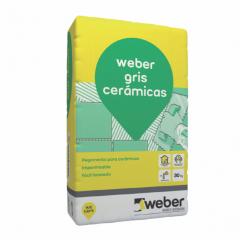 Pegamento piso y revestimiento ceramico Weber gris ceramicas bolsa x 30kg