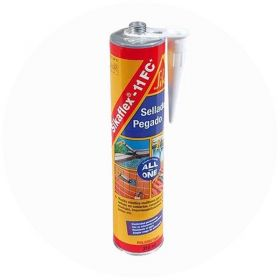 Sellador poliuretano adhesivo elastico multiuso Sikaflex-11 FC Plus secado rapido blanco cartucho x 300ml