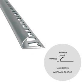 Varilla guardacanto arco desnivel piso acero inoxidable brillante 6mm x 10mm x 2500mm