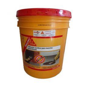 Emulsion ligante y reforzador mezclas cementicias Sikalatex acrilico balde x 20l