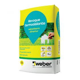 Revoque termoaislante Webertherm Climamur proyectable-manual gris bolsa x 7kg