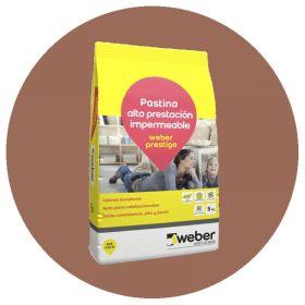 Pastina Weber Prestige Altas Prestaciones impermeable porcellanatos ferrico bolsa x 5kg