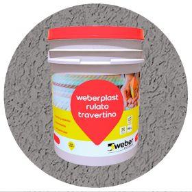 Revestimiento plastico texturado Weberplast RTF fino gris plomo balde x 30kg