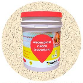 Revestimiento plastico texturado Weberplast RTF fino arena balde x 30kg