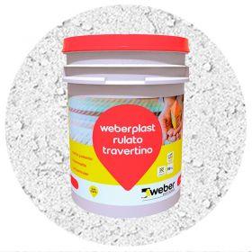 Revestimiento plastico texturado Weberplast RTG grueso blanco balde x 30kg