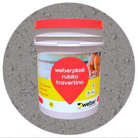 Revestimiento plastico texturado Weberplast RTG grueso gris plomo balde x 30kg