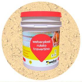 Revestimiento plastico texturado Weberplast RTG grueso roma balde x 30kg