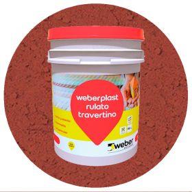 Revestimiento plastico texturado Weberplast RTG grueso terracota balde x 30kg