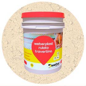 Revestimiento plastico texturado Weberplast RTG grueso piedra paris balde x 30kg