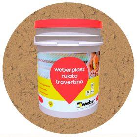 Revestimiento plastico texturado Weberplast RTG grueso camel balde x 30kg