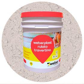 Revestimiento plastico texturado Weberplast RTG grueso vison balde x 30kg