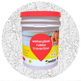 Revestimiento plastico texturado Weberplast RTM medio blanco balde x 30kg