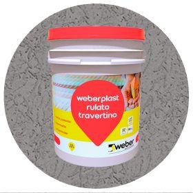 Revestimiento plastico texturado Weberplast RTM medio gris plomo balde x 30kg