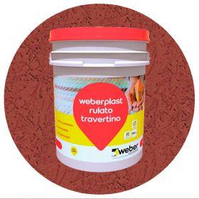 Revestimiento plastico texturado Weberplast RTM medio terracota balde x 30kg