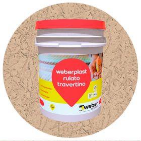 Revestimiento plastico texturado Weberplast RTM medio almendra balde x 30kg