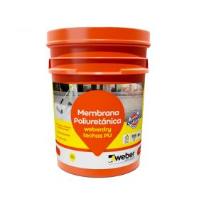 Membrana liquida impermeabilizante Weberdry Techos PU poliuretanica no transitable blanco balde x 10kg