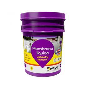 Membrana liquida impermeabilizante Weberdry Techos L flexible no transitable blanco balde x 20kg