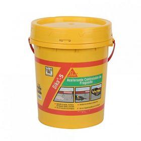 Aditivo acelerante fragüe hormigones y morteros Sika-5 balde x 20kg