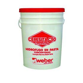 Aditivo hidrofugo Ceresita C50 concentrado en pasta balde x 4kg