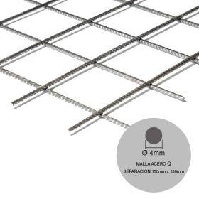 Malla acero Q84-Q92-F10 mini ø4mm separacion 150mm x 150mm medidas 2000mm x 3000mm x 6m²