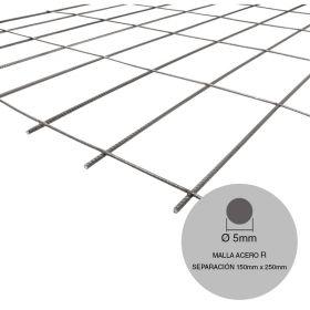 Malla acero R131-RL158 mini ø5mm separacion 150mm x 250mm medidas 2000mm x 3000mm x 6m²
