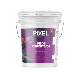 Pintura pisos deportivos acrilico PD alto transito impermeable secado rapido interior/exterior blanco balde x 10l