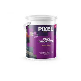 Pintura pisos deportivos acrilico PD alto transito impermeable secado rapido interior/exterior blanco balde x 4l