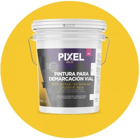 Pintura demarcacion vial acrilico PDV alta visibilidad larga duracion sin solventes amarillo balde x 10l
