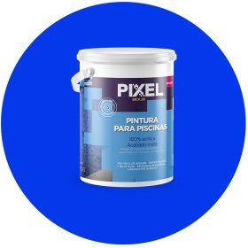 Pintura latex acrilico PP-200 piscinas/piletas azul mate balde x 4l